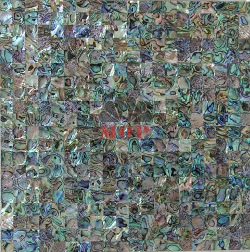 Blue Abalone Shell Mosaic Tiles MS1001