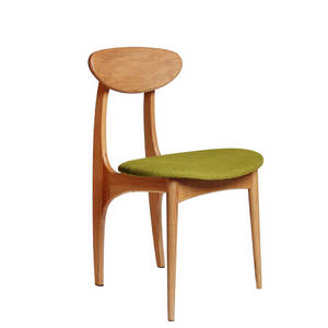 Wholesale upholstered: MID-Century Wooden Dining Chair, Solid Rubber Wood Chair with Upholstered
