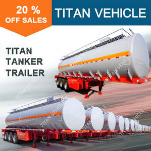 Wholesale aluminum fuel tanker: TITAN 3 Axle 35000 Liters Semi Fuel Tanker Trailer for Sale