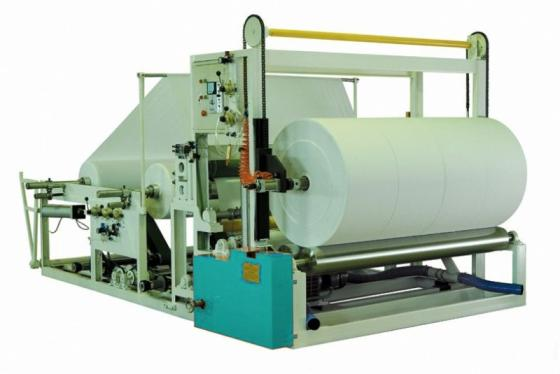 Sell  jumbo roll paper rewinding cutting machine