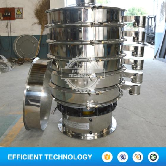 Industrial Food Powder Stainless Steel Circular Vibro Separator Sifter Rotary Vibrating Sieve Shaker
