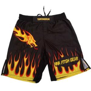 Wholesale sublimation: Custom Sublimation Dragon MMA Shorts by Top King Gea