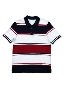 Wholesale polo: Ningbo Fuzhi Men's Custom Striped Polo Shirt Pique Short Sleeve Yarn Dyed