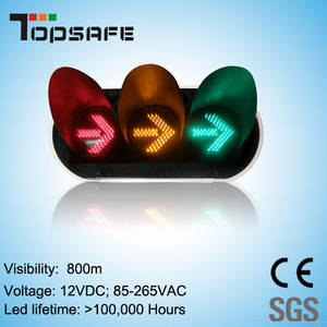 Wholesale 200mm traffic lamp: 200mm Arrow LED Traffic Signal with Red Yellow Green Arrows