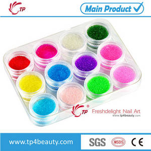 Wholesale color beads: Fashion Nail Art Glitter Transparent Color Mini Beads