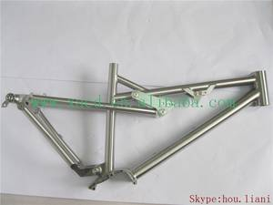 Wholesale Bicycle Frame: Titanium Full Suspension Bicycle Frame Custom All of Size