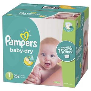 Wholesale nappies: PAMPERS Baby Dry Nappies Size 3 49 Kg 1 Mega Box