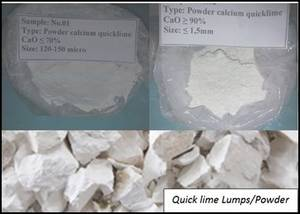 Wholesale Calcium Oxide: Quick Lime and Dolomite