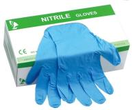 Blue Protective Nitrile Gloves Powder Free Examination