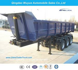 Wholesale dump semi trailer: 3 Axle 45cbm U Shape Dump Semitrailer or Dump Semi Truck Trailer