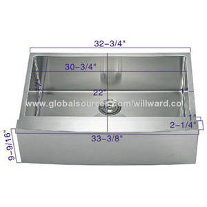 Wholesale food pad: Stainless Steel ER-3301 Farmhouse Handcraft Sink