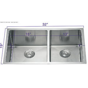 Wholesale stainless steel sink: Stainless Steel Handmade NR-3203 Kitchen Sink