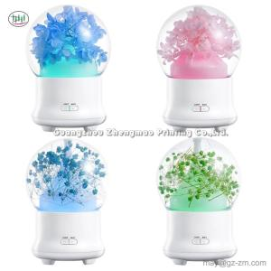 Wholesale essential oil: Eternal Immortal Flower Essential Oil Aroma Diffuser Humidifier Ultrasonic Aromatherapy 7 Color LED