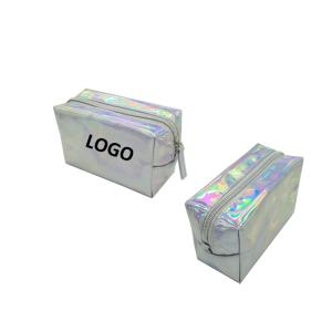 Wholesale pvc bag: PVC Women Laser Magnificent Shiny Makeup Colorful Zipper Bag,Promotional LaserCosmeticBag Supplier