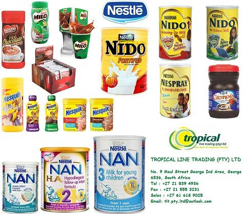 Nestle Nido Milk, Nespray, Nido 3+, Nido 1+, Nan 1,2 and 3