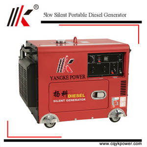 Wholesale portable genset: Hot Sale 5000watt Silent Diesel Generator
