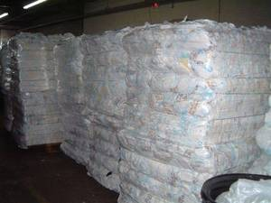 Wholesale baled diapers: Baby Diapers in Bales