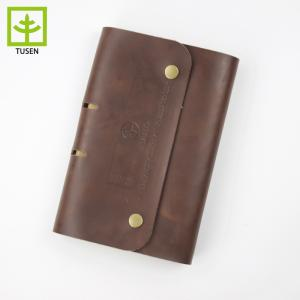 Wholesale leather: Journal Gift Customized Leather Notebook for Son Daughter Dad Mom Diary Week Planner Agenda DIY Birt