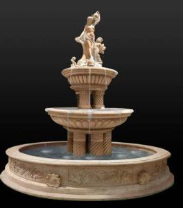 Wholesale stone marble: Hot Sale Outdoor Natural Stone Marble Water Fountain Price Statue