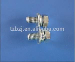 Wholesale lock washer: 8.8 Grade Galvanized Hex Bolt with Nut Washer and Spring Washer