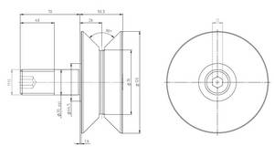 Wholesale Other Ball Bearings: HPV76 V-grooved Concentric Stud