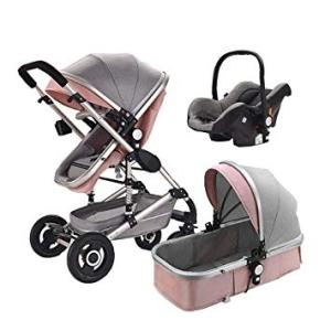 Wholesale Strollers, Walkers & Carriers: Baby Pushchair Pram Newborn Buggy 3 in 1 Car Seat Carrycot Travel System