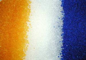 Wholesale aluminum coated glass bead: Silica Gel White,Blue,Orange