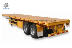 Wholesale flatbed container: 2 Axles 20ft Flatbed Container Transport Semi Truck Trailer