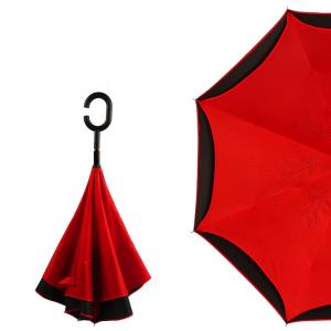 Wholesale Umbrellas & Raincoats: Creative Design Windproof Two Layer Inverted Umbrella C Shape Handle Umbrella