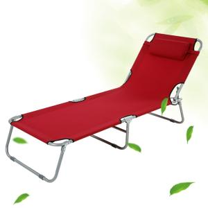 Wholesale lounger: Garden Outdoor Patio Balcony Folding Camping Sun Lounger Recliner Chair Bed