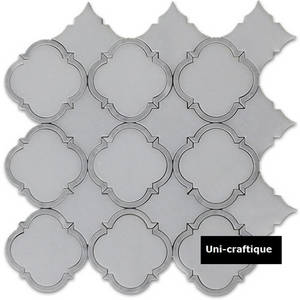 Wholesale Tiles: Pure White & Grey Water Jet Marble Tiles & Mosaics for Bathroom and Kitchen, Moden Design