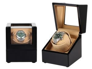 Wholesale fixed phone: Gloss Wooden Watch Winder Luxury Single Watch Winder with Glass Window Design Urbrand