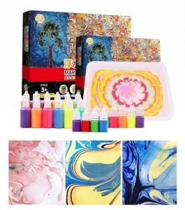 Wholesale interactive toy: Marbling Painting Kit, Non-Toxic;Painting On Water, Creative Marbling Art for Kids