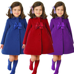 Wholesale Children's Jackets: Woolen Coat Girl Windbreaker Plush Coat