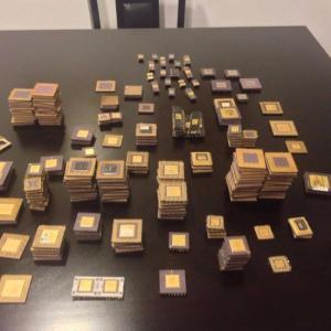 Wholesale ceramics: CPU Intel Pentium Pro Ceramic CPU Processor Scrap with Gold Pins