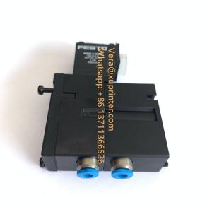 Wholesale solenoid valve: Heidelberg Solenoid 4-2 Way Valve - 4mm Push Fits, M2.184.1111, Heidelberg Offset Press Parts