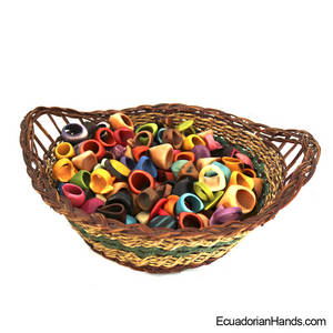 Wholesale Rings: Tagua Rings (ASSORTED) Wholesale Tagua Jewelry Handmade EcoIvory - JC006