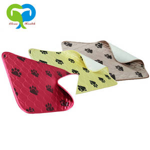 Wholesale washable underpad: Waterproof Reusable Puppy Dog PET Training Pad Mat Travel Paw Pee Pads