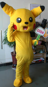 Wholesale Apparel Projects: OISK Pikachu Mascot Costume Halloween Christmas Birthday Props Costumes for Adult Kids