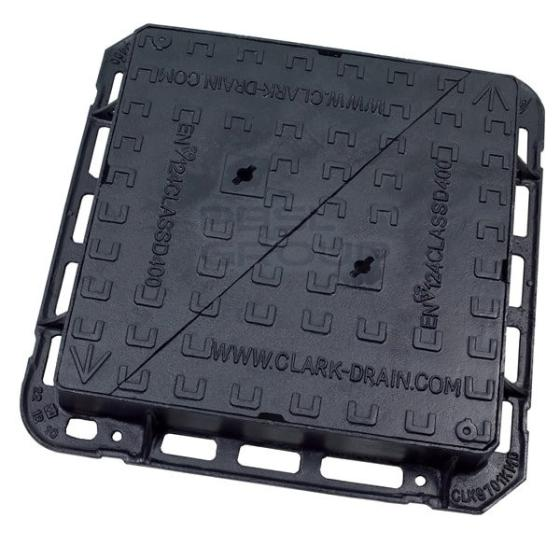 China Ductile Iron Square Double Triangle Telecome  Manhole Cover