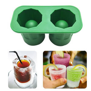 Wholesale mold maker: New Cup Shape Rubber Ice Cube Shot Glass Freeze Mold Maker Tray Party