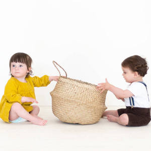 Wholesale Storage Baskets: Natural Color Seagrass Basket/ Laundry Seagrass Basket