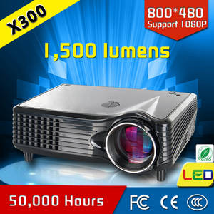 Wholesale dvd pack french: CRE X300 Smart Projector USB VGA HDMI LED Digital Projector with 800*480p Projector