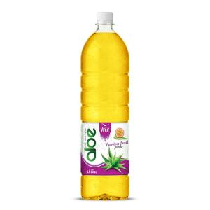 Wholesale aloe: 1,5L Bottle Aloe Vera Drink Premium Passion Fruit Flavor