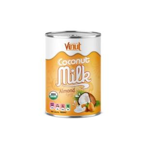 Wholesale Coconuts: 400ml USDA Organic Coconut Milk with Almond Flavour