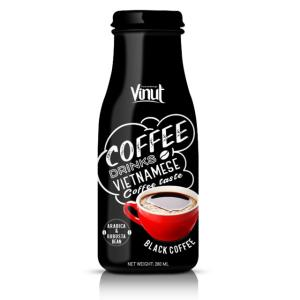 Wholesale glass food container: 280ml Glass Bottle Black Coffee From Vietnam