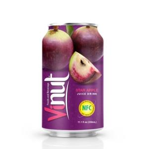 Wholesale star: 330ml Canned Star Apple Juice Drink