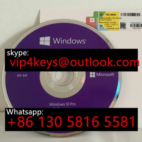 Win 7/8.1/10Server 2016 OEM Key Sticker DVD Sealed Packing Box