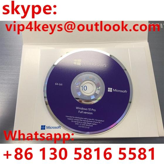 WIN10 Pro 64 Bit DVD Windows 10 Product Key Code Made in Singapore Activated Global Area