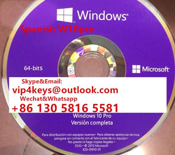 Russian  Language Product OEM Key Windows 10 Pro Pack Retail Box 32bit 64bit